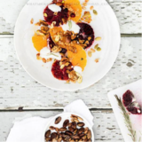 Juicy Oranges with Pistachios, Granola, and Yogurt