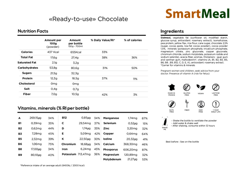 SmartMeal Chocolate