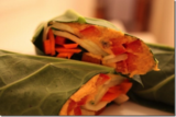 Raw collard wrap with sweet potato Hummus