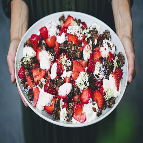 Smashed Cookie Salad with Strawberries