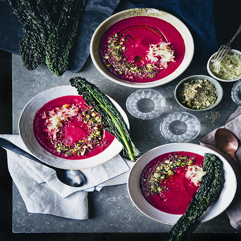 Love Soup with Pistachio Dukkah