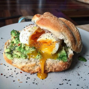 Classic Avocado & Poached Egg on Freshly Baked Bread