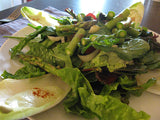 Dark greens, tomatoes, endive, and fresh asparagus Salad