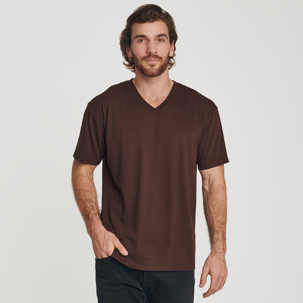 Coffee V-Neck T-Shirt