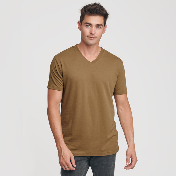 Tan 499 V-Neck T-Shirt