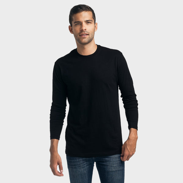 Black Crew Neck Long Sleeve
