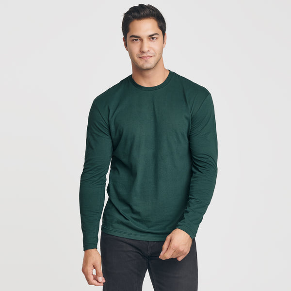 Forest Green Crew Neck Long Sleeve