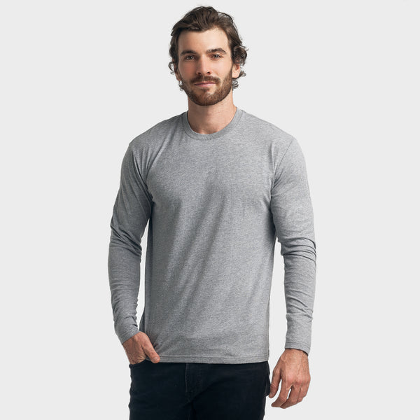 Heather Gray Crew Neck Long Sleeve