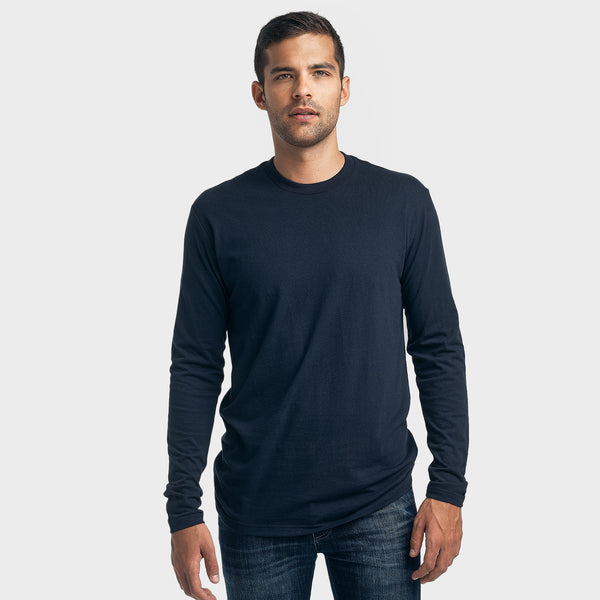 Navy Crew Neck Long Sleeve