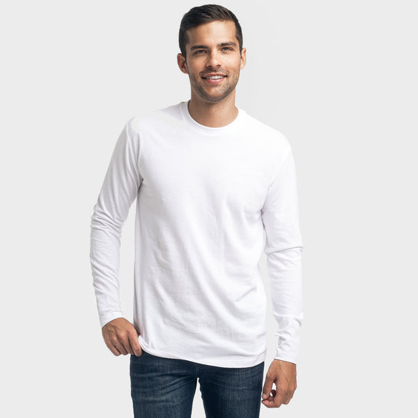 White Crew Neck Long Sleeve