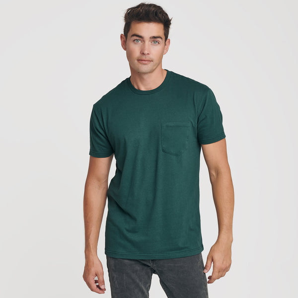 Forest Green Pocket Crew Tee