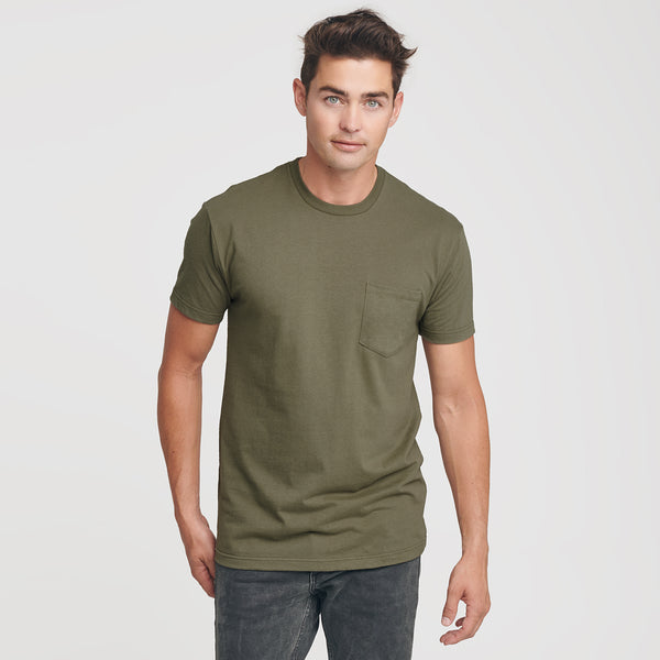 Military Green Pocket Crew Tee