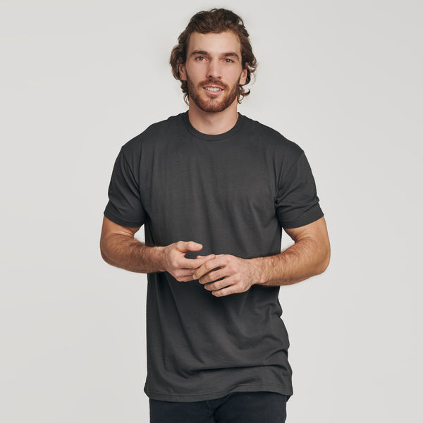 Carbon Long Body Crew Neck Tee