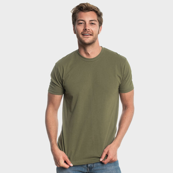Military Green Crew Neck T-Shirt