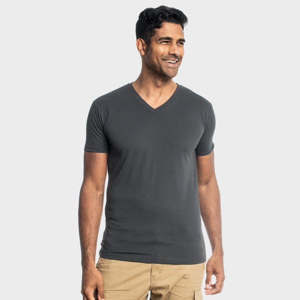 Carbon V-Neck T-Shirt