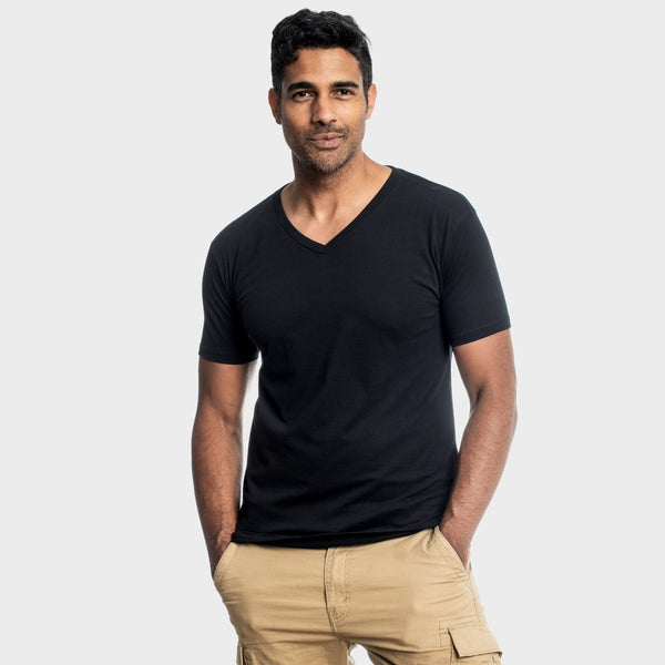 All Black V-Neck 3-Pack