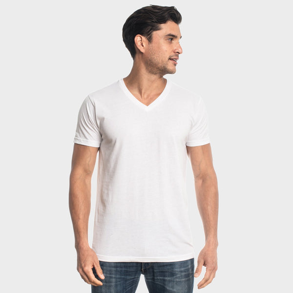 All White V-Neck 3-Pack