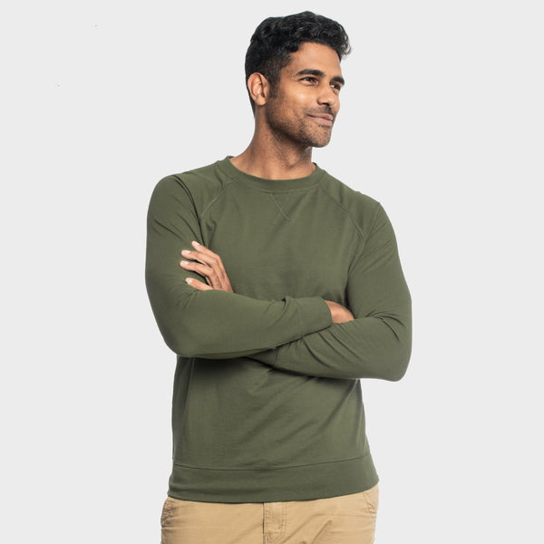 Military Green French Terry Sweatshirt