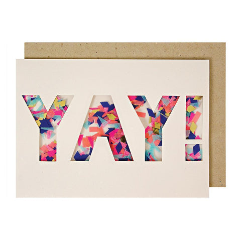 Meri Meri Yay Confetti Shaker Greeting Card