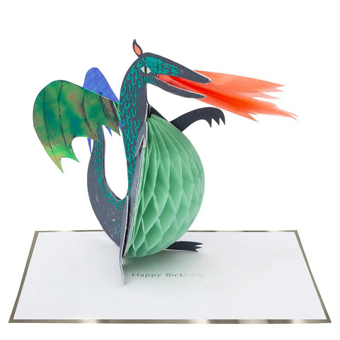 Meri Meri Honeycomb Dragon Stand-Up Card