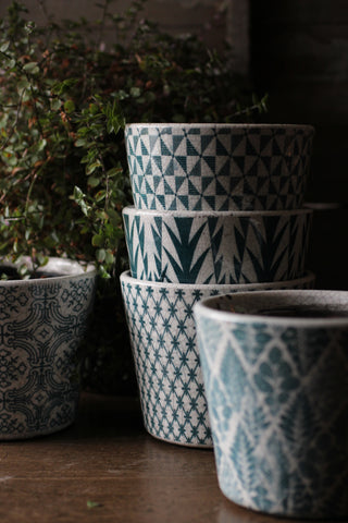 Plant Pot Teal | Tile Design