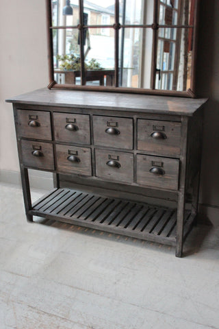 Eight Drawer Console Cabinet