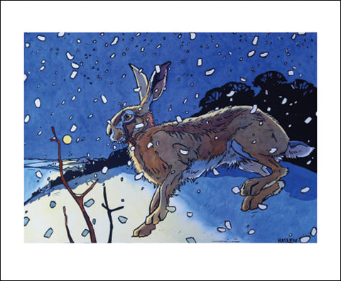 Art Angels Card -Winter Hare II
