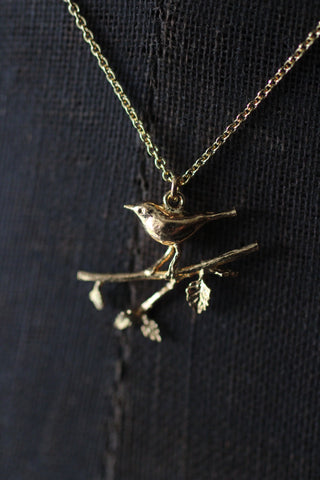 Alex Monroe Bird on Branch Necklace