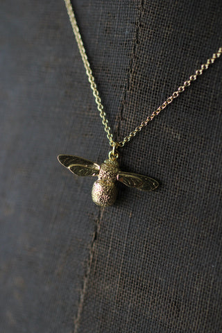 Alex Monroe Baby Bee Necklace