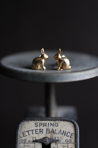 Alex Monroe Sitting Bunny Earrings