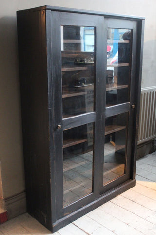 BLACK GLAZED CUPBOARD