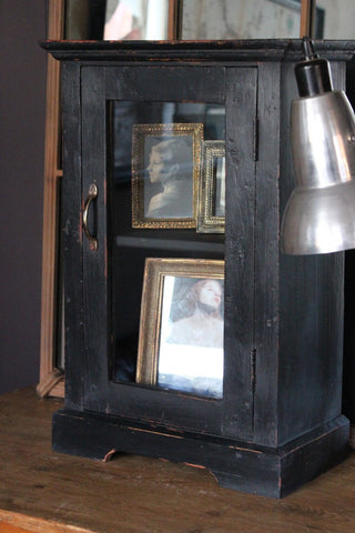 Black Painted Antique Cabinet
