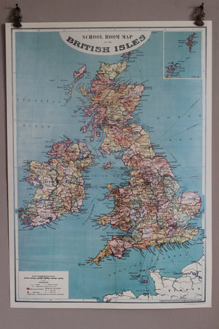 CAVALLINI BRITISH ISLES MAP