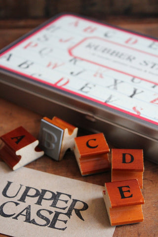RUBBER STAMP SET - ALPHABET