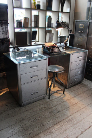 Reconditioned Industrial Steel Desk