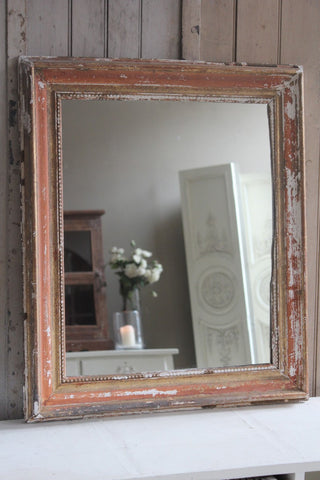 FRENCH MIRROR WITH ORIGINAL PAINT