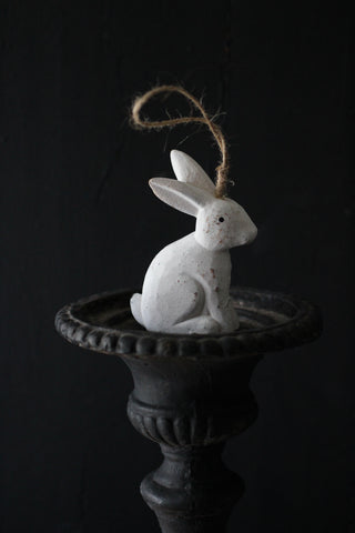 Wooden Easter Rabbit with string