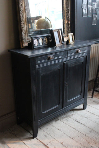 Black Painted French Cupboard