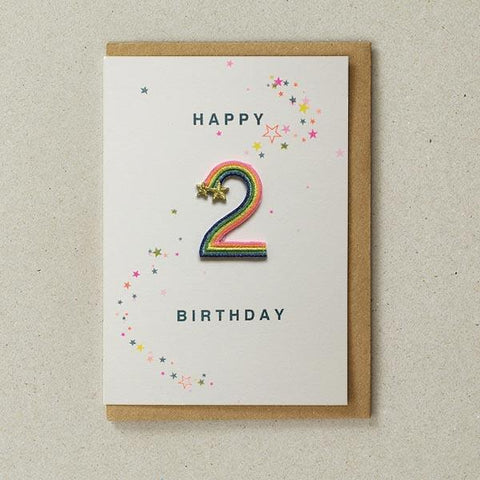 Embroidered Patch Card 2nd Birthday