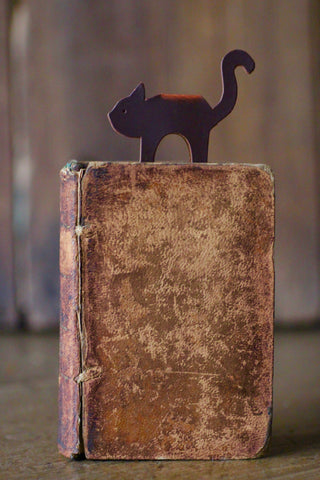 Cat Recycled Leather Bookmark