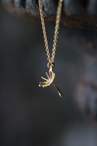 Alex Monroe Single Dandelion Fluff Necklace