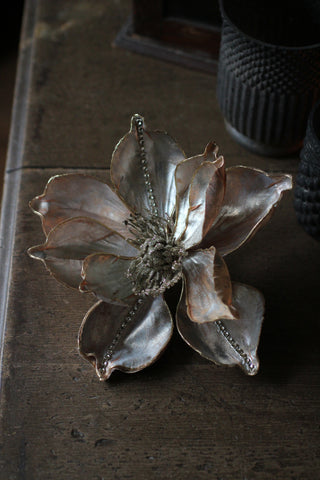 Taupe Magnolia Decoration (with clip)