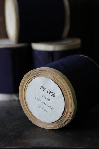 Vintage French Ribbon on Roll (Navy)
