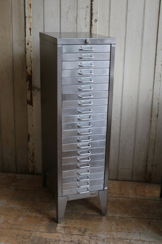 21 Drawer Vintage Filing Drawers