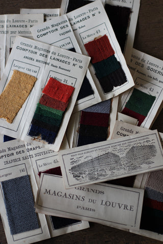Vintage French Double Fabric Samples