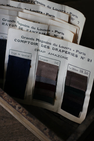 Vintage French Triple Fabric Samples