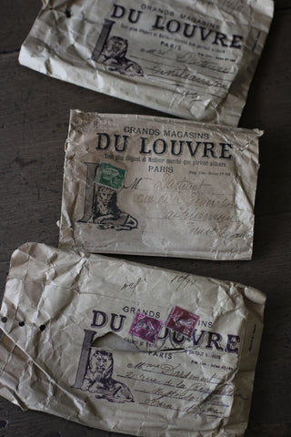 Vintage French Fabric Sample Envelopes
