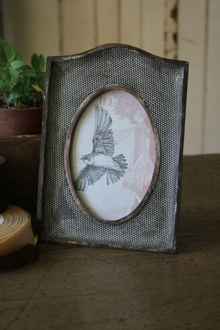 Antiqued Silver Beaded Frame