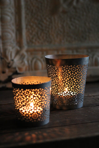 Zinc Tealight holder