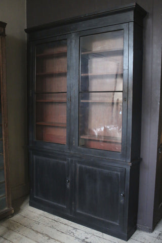 Black Painted Book Cabinet
